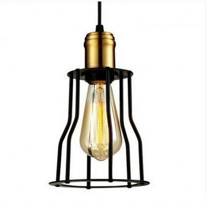 Klemens Industrial Lantern-Like Caged Pendant Light