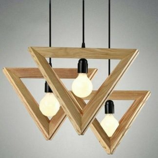 Malaina Wood Modern Geometric Pendant Light