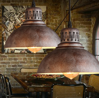 Ercole Aged and Rustic Industrial Pendant Light
