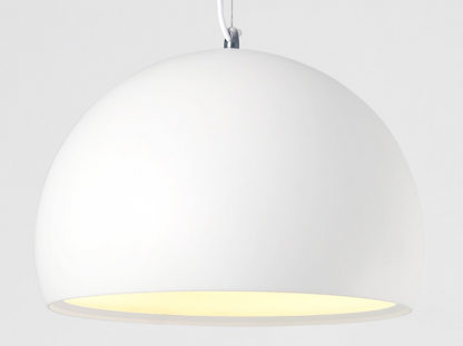 Gelsomina Contemporary Eyeball Shaped White Pendant Light
