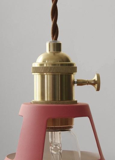 Lovise Sleek Vintage Barn Style Pendant Light Pink Minimalist Design