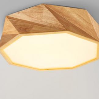 Arild Modern Scandinavian Angular Wooden Ceiling Lamp acrylic shade Scandinavian Design lights
