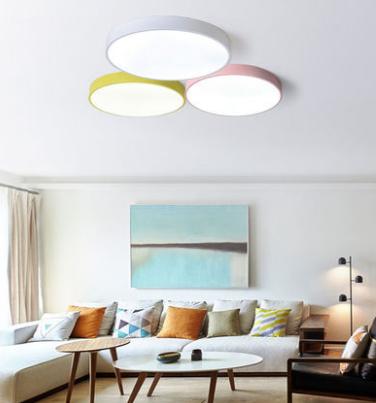 Birgitta Modern Nordic Pastel Colored Ceiling Light Living Room lights