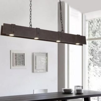 Gerlach Rustic Industrial Chic Metal Pendant Lamp Bar lights