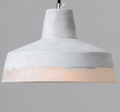 Natanael Modern Cone Cement Pendant Light 6 cool color