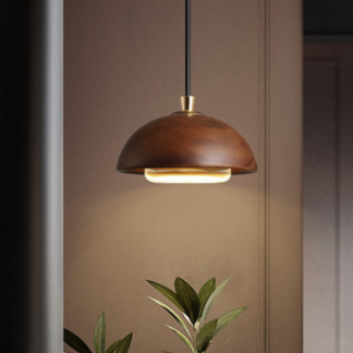 Vidar Scandinavian Acorn Shape Wooden Pendant Lamp Modern lights