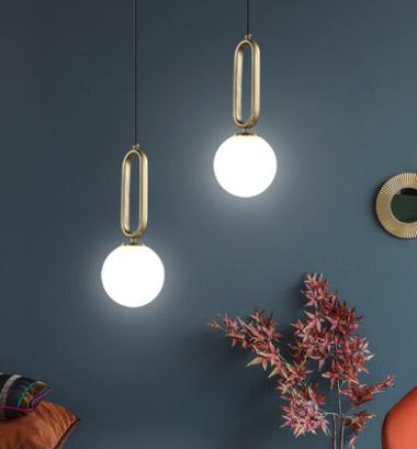 Borgny Modern Minimalist Frosted Glass Pendant Light Living Room lights