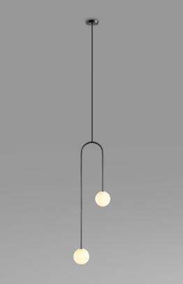 Evert Eye-Catching Minimalist Double Globe Pendant Light Kitchen Island lights