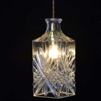 Freya Classic Elegant Carved Glass Pendant Light Modern lights
