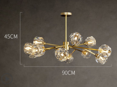 Hendrika Luxury Elegant Glossy Crystal Chandelier Light Dining Room lights