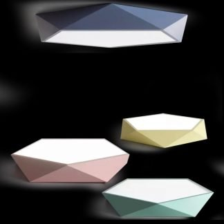 Ingmar Modern Scandinavian Polygonal Ceiling Light Pastel Colors Cafe lights