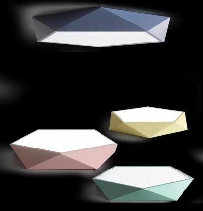 Ingmar Modern Scandinavian Polygonal Ceiling Light Pastel Colors Cafe lights