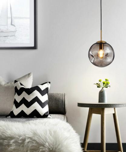 Jozua Contemporary Spherical Glass Shade Pendant Lamp Living Room lights