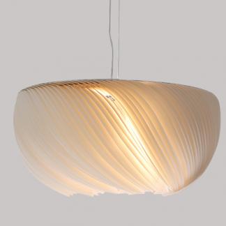 Lorens Modern Wavy Parchment Pendant Light Living Room lights