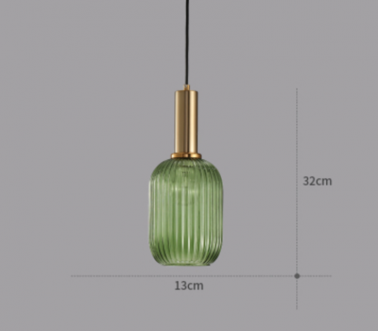 Torunn Textured Glass Shade Single Head Pendant Light Bedroom lights