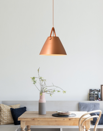 Von Minimalist Metal Cylindrical Shaped Pendant Light Living Room lights