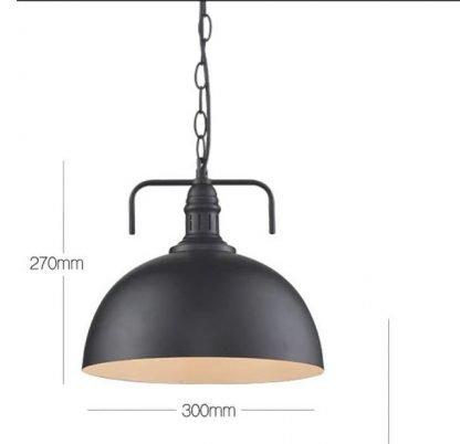 Industrial Hanging Lamp -dimensions