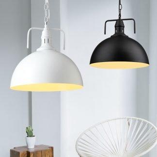 Marius Industrial Hanging Lamp - white and black