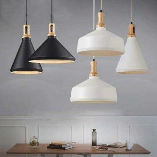 Olov Wood Top Scandinavian Style Pendant