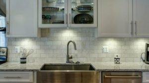 Task lighting in kitchen