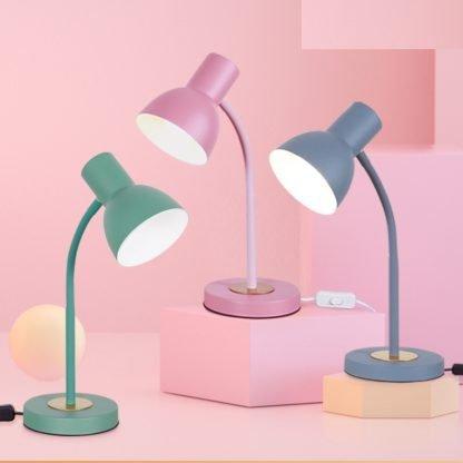 Ebbe Macaron Color Adjustable Pink Desk Lamp