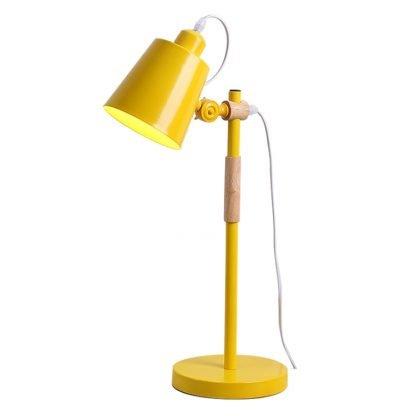 Erland Wood Art Yellow Minimalist Design Reading Desk Lamp