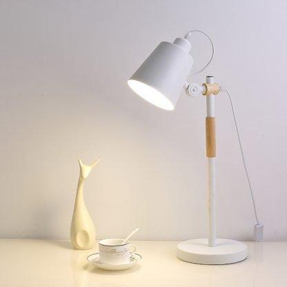 Erland Wood Art Modern Design Reading White Desk Lamp