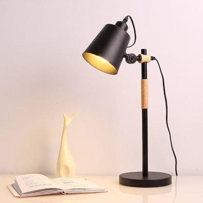 Erland Wood Art Modern Design Reading Black Desk Lamp