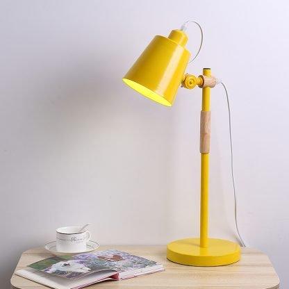 Erland Wood Art Yellow Modern Design Reading Desk Lamp