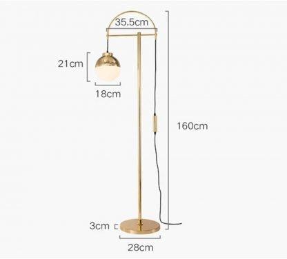 Erling Contemporary Streamlined Modern Gold Floor Lamp