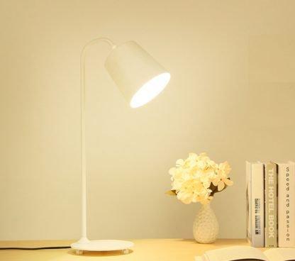 Allan Industrial Eye-Catching White Desk Reading Lamp