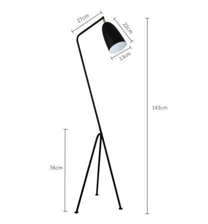 Jokum Geometric Shape Modern Floor Lamp Black