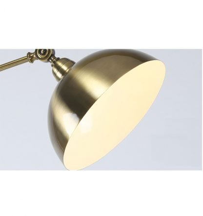 Lennart Antique Golden Shade Adjustable Modern Metal Floor Lamp