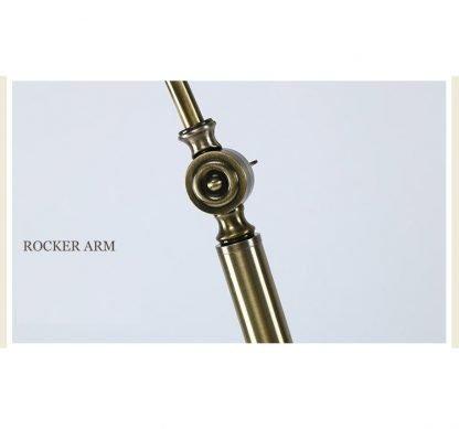 Lennart Antique Brass Shade Adjustable Modern Metal Floor Lamp