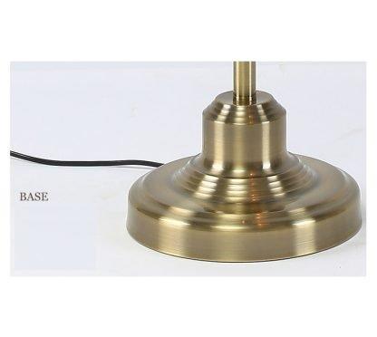 Lennart Antique Brass Shade Modern Floor Lamp