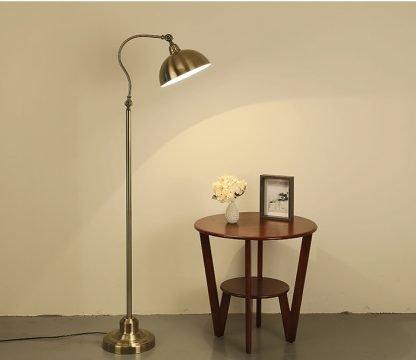 Lennart Antique Golden Shade Adjustable Chic Metal Floor Lamp