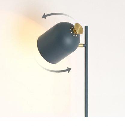 Magda Standing Modern Industrial Tall Grey Pole Light