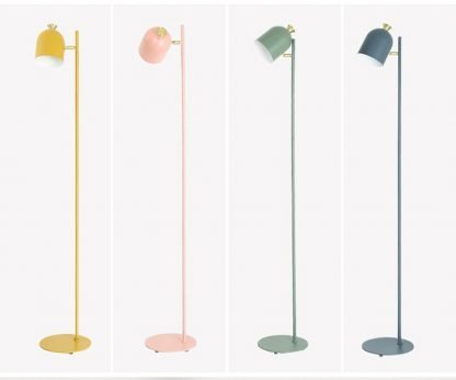 Magda Standing Modern Minimalist Industrial Tall Yellow Pole Light
