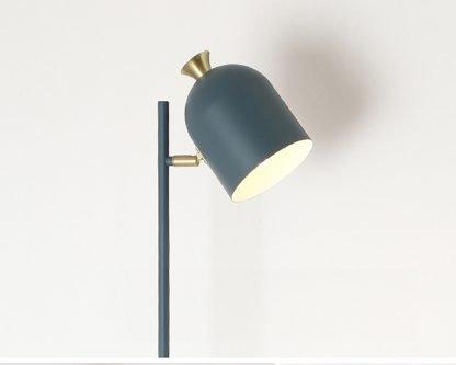 Magda Standing Modern Minimalist Industrial Tall Grey Pole Light