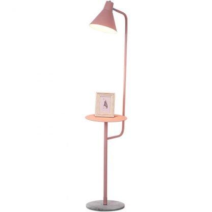 Mikkeline Contemporary Storage Shelf Minimalist Design Pink Floor Lamp