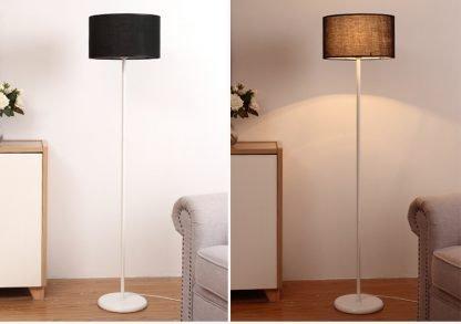 Mynte Minimalist Contemporary Black Arc Floor Lamp