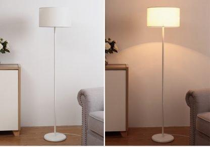 Mynte Minimalist Contemporary White Arc Floor Lamp