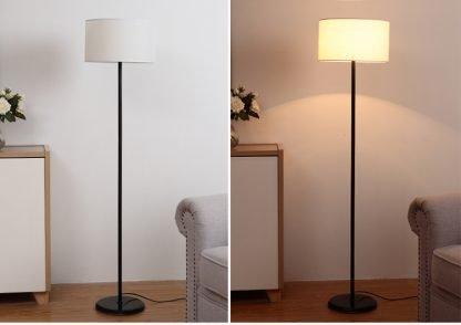 Mynte Contemporary Arc White Floor Lamp