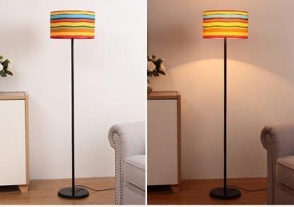 Mynte Contemporary Arc Floor Lamp Colorful