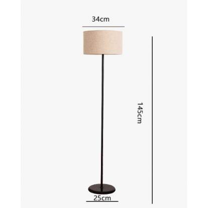 Mynte Contemporary Arc Floor Lamp Beige