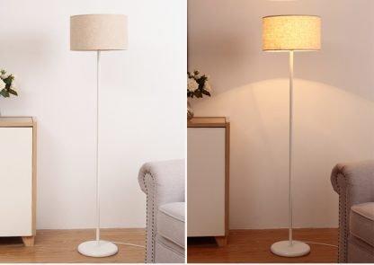 Mynte Minimalist Contemporary White Adjustable Arc Floor Lamp