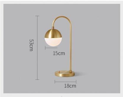 Aghethe Luxury Design Copper Nordic Desk Lamp