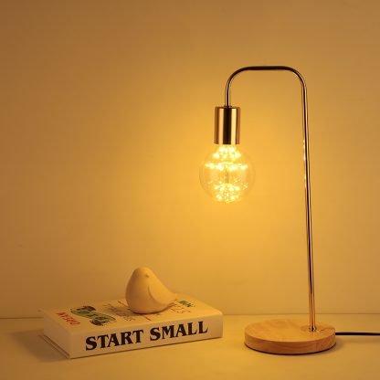 Peer Wooden Rose Gold Modern Base Stylish Table Lamp