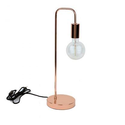 Peer Wooden Rose Gold Minimalist Base Stylish Table Lamp