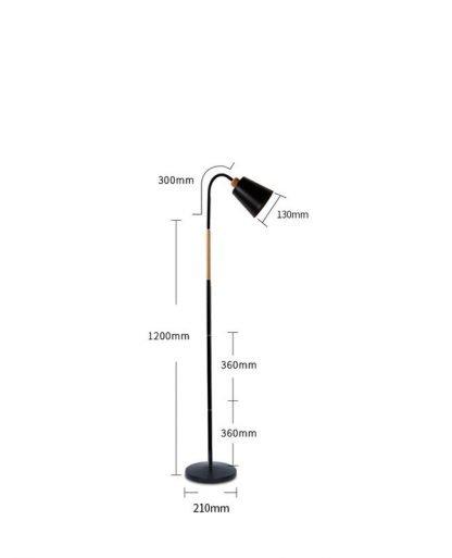 Yngve Contemporary Pastel Color Floor Lamp